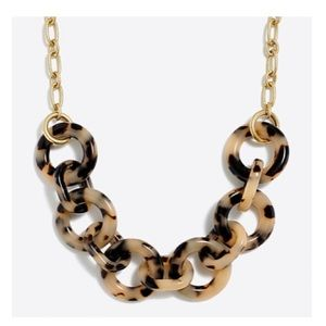 J. Crew Factory Blond Tortoise Link Necklace